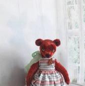 Мишка Фасолька. Тедди. Игрушка коллекционная.