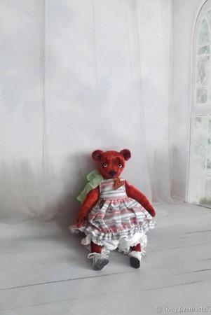 Игрушка коллекционная мишка Фасолька ручной работы на заказ