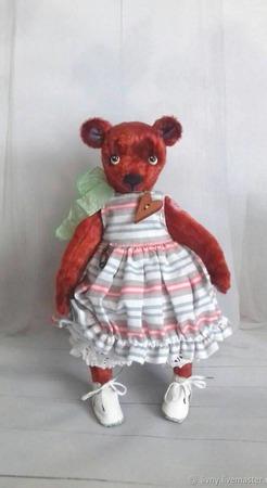 Мишка Фасолька. Тедди. Игрушка коллекционная. ручной работы на заказ