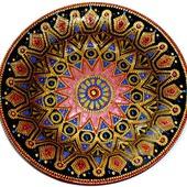 Тарелка-мандала точечная роспись Цветок мечты