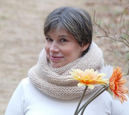 """Теплый снуд-шарф светло-бежевый """"Ванильный"""" ( шерсть) ручной работы на заказ"""