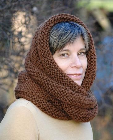 """Очень теплый снуд-шарф  """"Корица"""" (шерсть) ручной работы на заказ"""