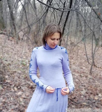 """Платье-реглан """"Зимняя бабочка"""" ручной работы на заказ"""