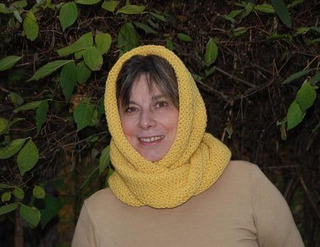 """Снуд- шарф  """"Подсолнух"""" (полушерсть) ручной работы на заказ"""
