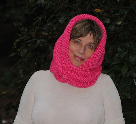 """Снуд-шарф  """"Мальва"""" (полушерсть) ручной работы на заказ"""