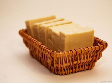 """Молочное мыло на оливковом масле """"Молочная кастилья"""" ручной работы на заказ"""