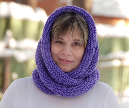 """Снуд-шарф """"Сирень"""" (полушерсть) ручной работы на заказ"""
