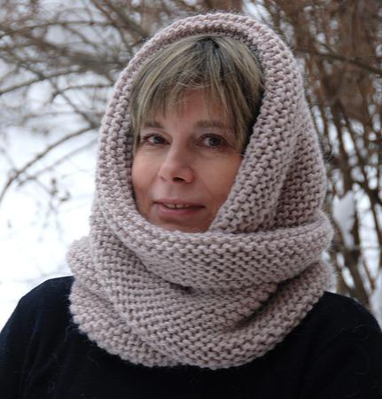 """Очень теплый снуд-шарф """" Жемчуг """" (шерсть) ручной работы на заказ"""