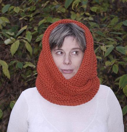 """Снуд-шарф """" Теплая осень"""" (полушерсть) ручной работы на заказ"""