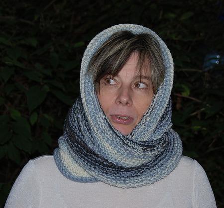 """Снуд-шарф  """"День и ночь"""" (полушерсть) ручной работы на заказ"""