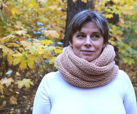 """Снуд-шарф """" Осенний"""" (полушерсть) ручной работы на заказ"""