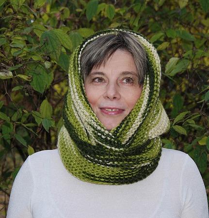 """Снуд-шарф  """"Цвет дракона""""  (полушерсть) ручной работы на заказ"""