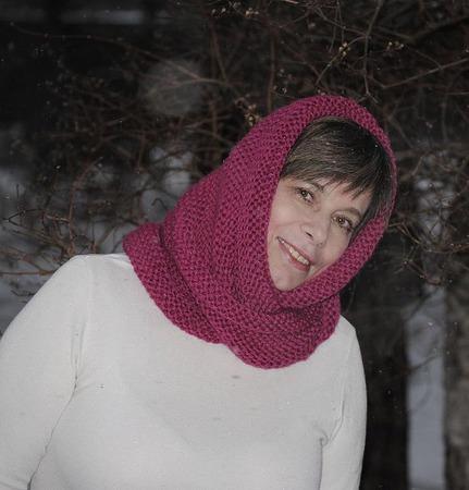 """Снуд-шарф """"Малинка"""" (полушерсть) ручной работы на заказ"""