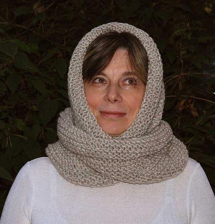 """Снуд-шарф """"Уютный""""- серый (полушерсть) ручной работы на заказ"""
