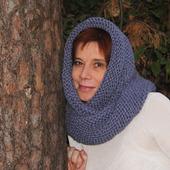 """Очень теплый снуд-шарф """" Ждем снегопад"""" ( шерсть)"""