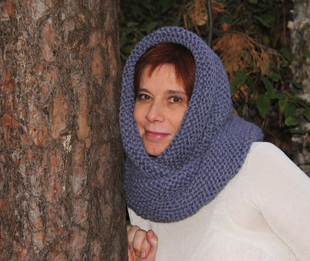 """Очень теплый снуд-шарф """" Ждем снегопад"""" ( шерсть) ручной работы на заказ"""