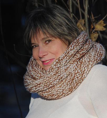 """Очень теплый снуд-шарф меланж """" Комфортный""""  (полушерсть) ручной работы на заказ"""
