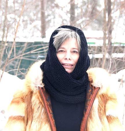 """Снуд-шарф черный  """"Зимняя ночь"""" (шерсть) ручной работы на заказ"""