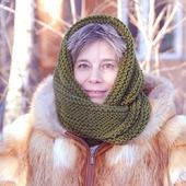 фото: шарф из полушерсти