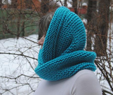 """Снуд-шарф """" Бирюзовое настроение"""" (полушерсть) ручной работы на заказ"""