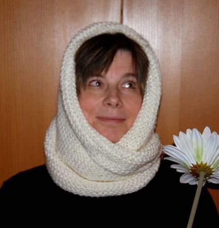 """Снуд-шарф """"Зимушка-зима"""" ( полушерсть) ручной работы на заказ"""