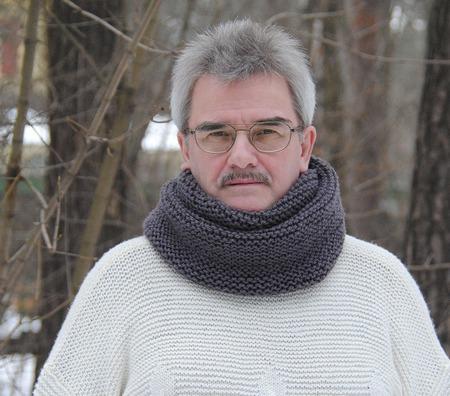 """Мужской шарф-снуд """"Маренго""""  (полушерсть) ручной работы на заказ"""