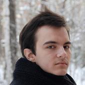 Мужской шарф-снуд черный (полушерсть)