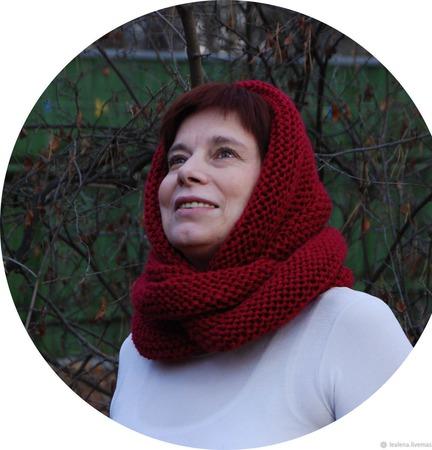 """Снуд-шарф """"Изабелла"""" ( полушерсть) ручной работы на заказ"""