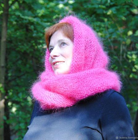 """Снуд-шарф """"Розовое облако"""" (мохер с акрилом) ручной работы на заказ"""