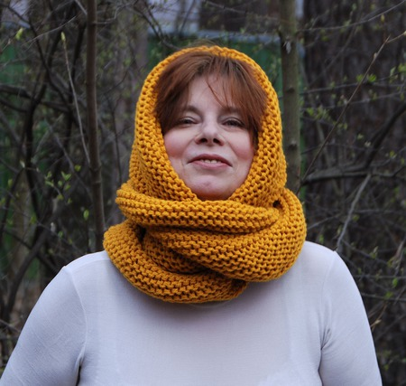 """Снуд-шарф """"Листопад"""" ( полушерсть) ручной работы на заказ"""