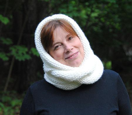 """Снуд-шарф белоснежный """"Ландыш"""" (акрил) ручной работы на заказ"""