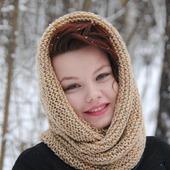 фото: Аксессуары (бежевый снуд-шарф)