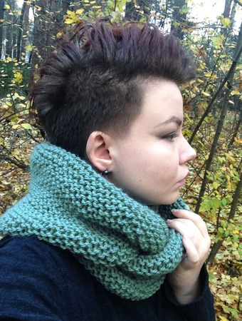 """Снуд-шарф  """"Тайфун"""" (шерсть) ручной работы на заказ"""