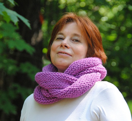 """Снуд-шарф  """"Фуксия"""" (полушерсть) ручной работы на заказ"""