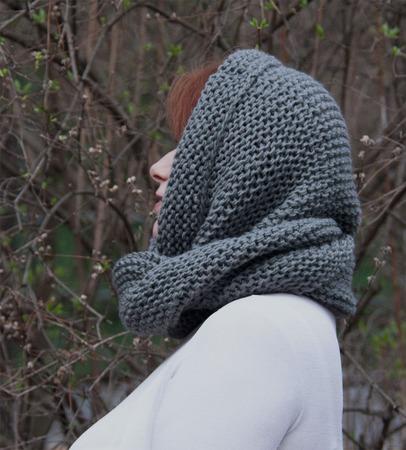 """Снуд- шарф """"Недосказанность"""" (полушерсть) ручной работы на заказ"""