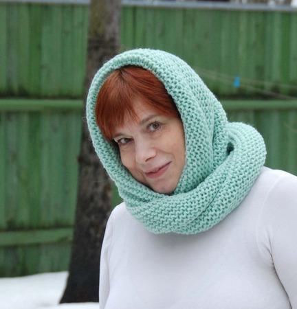 """Снуд-шарф """"Свежесть"""" (полушерсть) ручной работы на заказ"""
