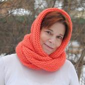 """Снуд-шарф  """"Настурция""""  ( полушерсть)"""