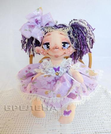 """Текстильная кукла """"Сиреневая феечка"""" ручной работы на заказ"""