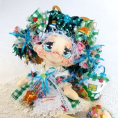 Домовушка Желанница Бирюзинка.Текстильная интерьерная кукла