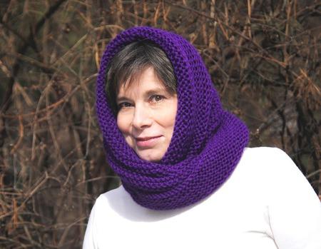 """Снуд-шарф """"Гладиолус"""" (полушерсть) ручной работы на заказ"""