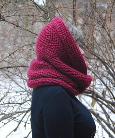 """Очень теплый снуд-шарф """" Астильба"""" (шерсть) ручной работы на заказ"""