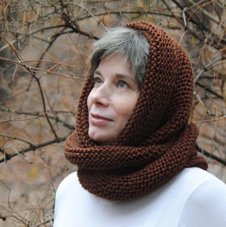 """Снуд-шарф  """"Коньячный"""" (полушерсть) ручной работы на заказ"""