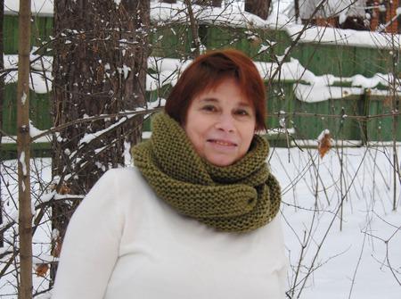 """Снуд-шарф цвета хаки  """"Защитный"""" (полушерсть) ручной работы на заказ"""