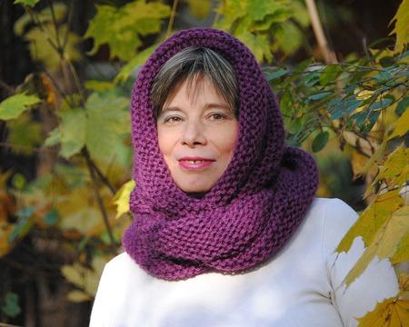 """Очень теплый снуд-шарф """"Кисельные берега"""" (шерсть) ручной работы на заказ"""