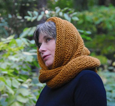 """Снуд-шарф желто--коричневый """"Горчица"""" (полушерсть) ручной работы на заказ"""