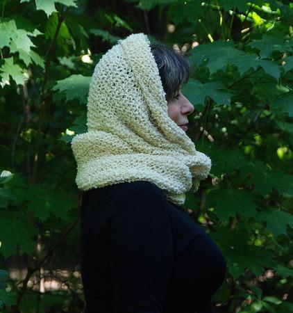 """Снуд-шарф букле """"Слоновая кость"""" (шерсть) ручной работы на заказ"""