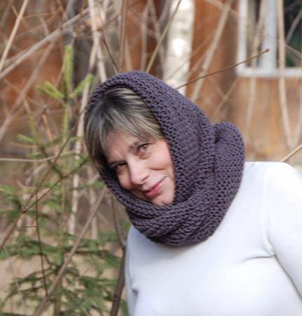 """Снуд-шарф """"Готика"""" (полушерсть) ручной работы на заказ"""