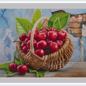 Корзина с вишнями