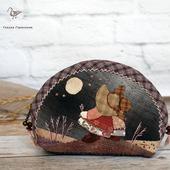 """Японская косметичка """"Подружки"""", лоскутное шитье"""