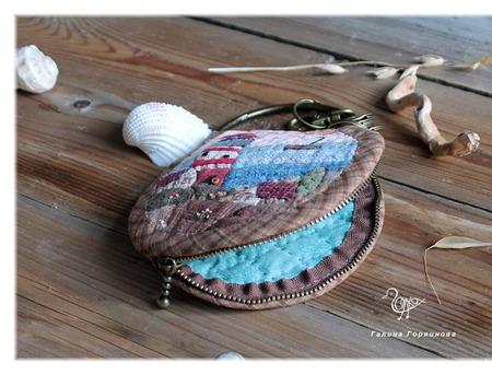 """Ключница в морском стиле из ткани """"Маяк"""" ручной работы на заказ"""